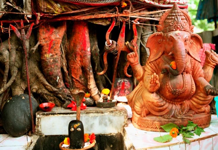 Ganesh shrine, pic courtesy Anita Rosenberg 1